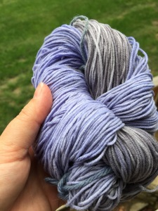 Lauras dyed yarn