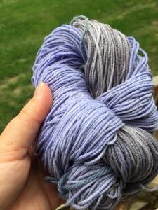 Lauras dyed yarn