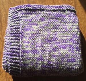 Ali's blanket folded