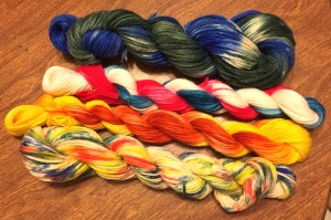 The fruits of my dyeing labor today.
