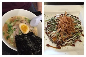 "Josh's Ramen and my ""pancake"""