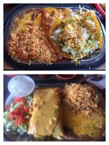 "Top: my ""Number 1"" Bottom: dads Chimichanga lunch special"