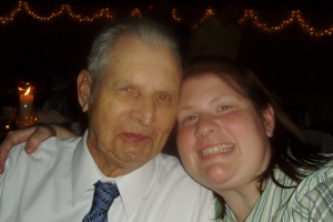 My Grandpa and I at a cousins wedding almost 10 years ago.