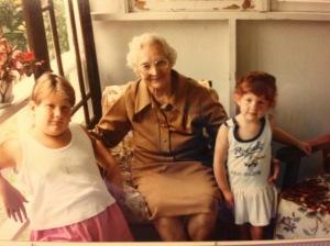 Me, Great Grandma H and Saralyn Circa 1989?