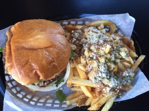 Laura's burger and poutine