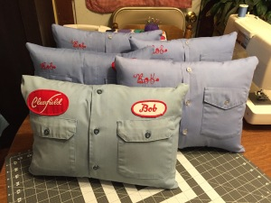 Finished shirt pillows